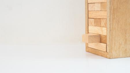 wooden block on white background Reklamní fotografie
