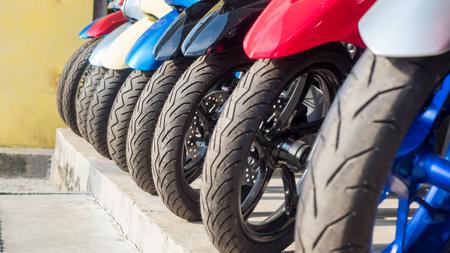 Motorcycle wheel selective focus Stok Fotoğraf