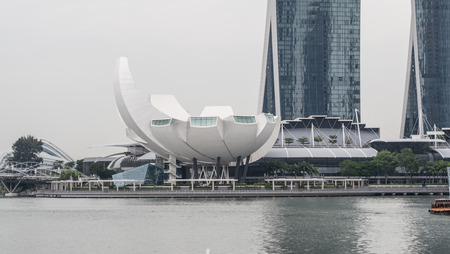 Singapore -September 17 2016 : ArtScience Museum is one of the attractions at Marina Bay Sands, in Singapore. Editorial