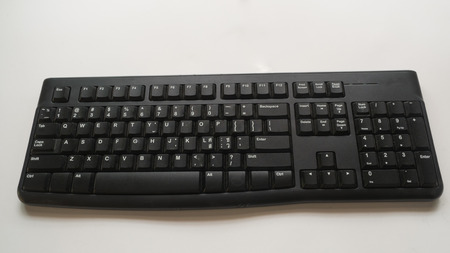 keyboard on white background