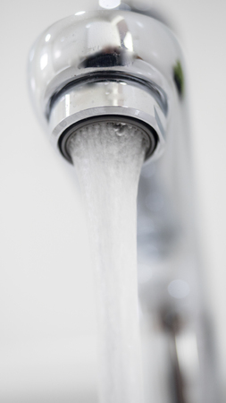 water tap close up bathroom