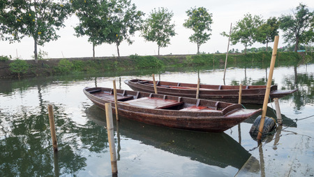 rowboat in thai on river