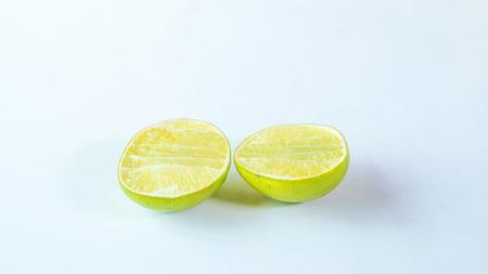 lemon on white background Stock Photo