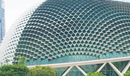Singapore -September  27 2016 :close up building Esplanade - Theatres on the Bay Stock Photo