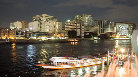 express boat in river thai
