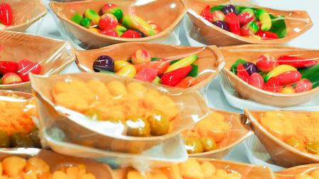 Thai Desserts in Dish local market