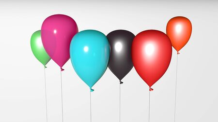 Colorful Balloons in isolated White Background