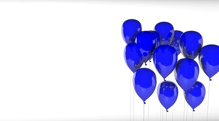 blue balloons group isolated White Background
