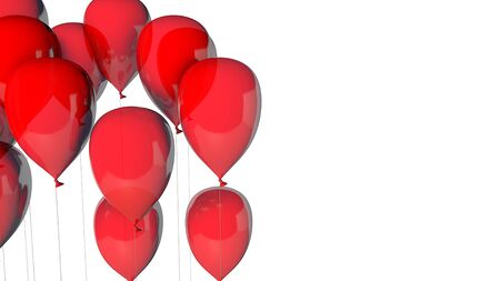 red balloons group isolated White Background