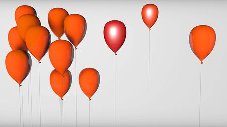 balloon 3d render  isolated White Background
