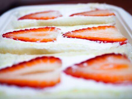 Strawberry Sandwich close up