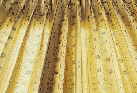 Curtains window decoration interior of room Low angle view
