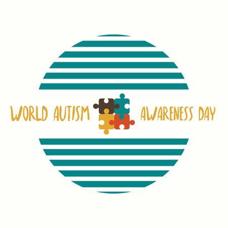 Creative vector abstract for World Autism Awareness Day. Holiday or event for people with autism and other diseases. Flat vector illustration.