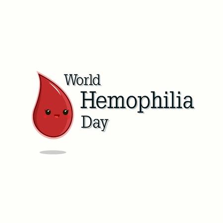 World Hemophilia day Vector illustration with happy drop of blood. Illustration