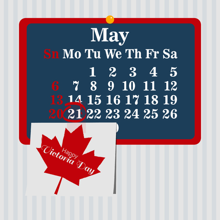 A Vector illustration for the Victoria Day.