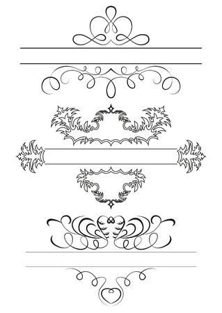 Calligraphic Set  Elegant set of a framework for your ideas, vector illustration Vector