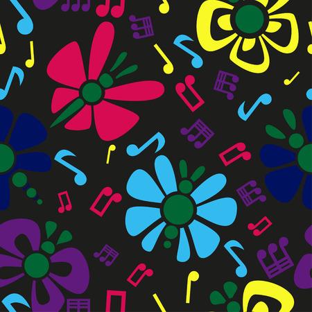 semiquaver: Butterflies Seamless Pattern
