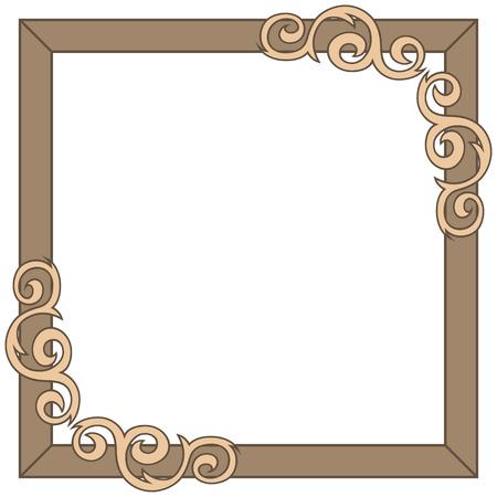 Decorative ornate frame. Vector illustration Vector