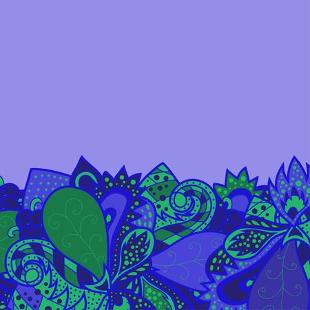 plantilla para tarjetas: Frontera con elementos decorativos. Tarjeta de invitaci�n de resumen, el dise�o de onda plantilla para tarjeta, fondo garabato abstracto, tema de onda sin patr�n, vector de onda ornamentos, verano, tema mar�timo para el dise�o Vectores