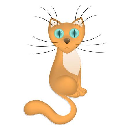 mjau: Cartoon cat, vector illustration Illustration
