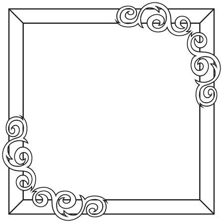 Contour decorative ornate frame. Vector illustration Vector