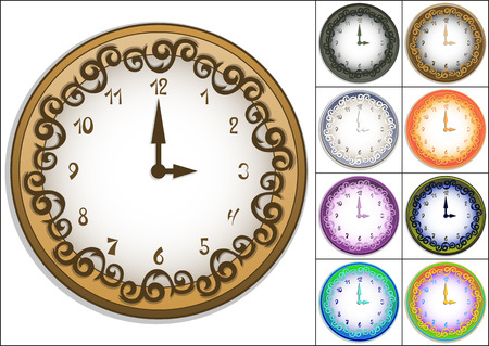 Amazing wall clock decorated with ornate pattern
