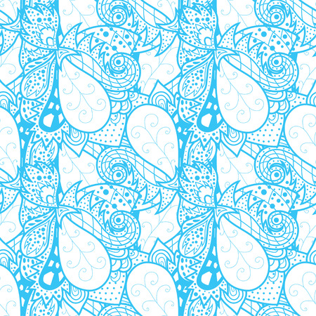 waves pattern: Seamless abstract hand-drawn waves pattern.  Illustration