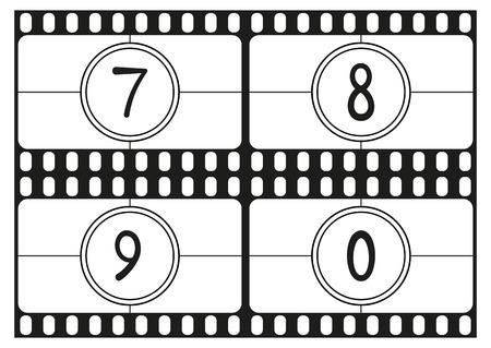 countdown: Film countdown numbers Illustration