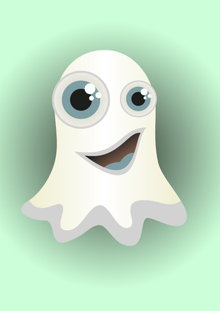 Cartoon ghost, cute monster