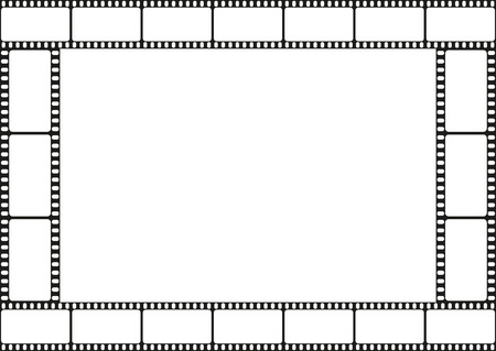 Film strip template border, movie theater frame, vector illustration Vector