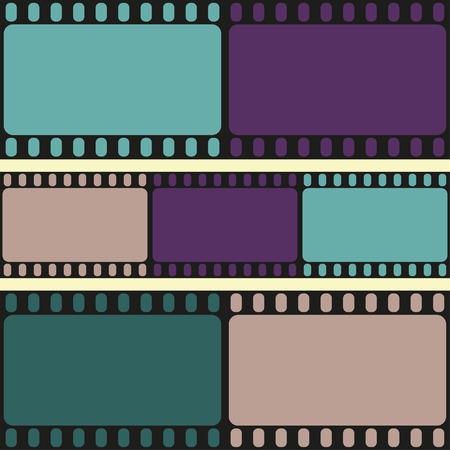 Film strips seamless pattern, retro background, vector illustration
