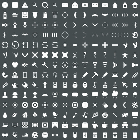 Universal modern flat icon set, collection for web Vector
