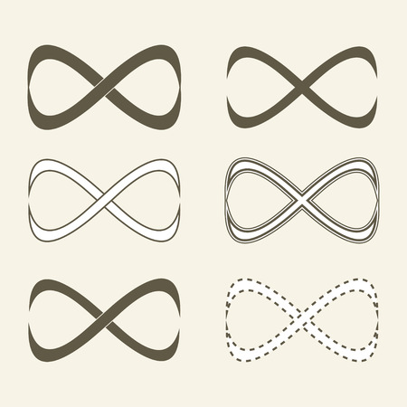 limitless: Set of limitless icons, infinity symbol