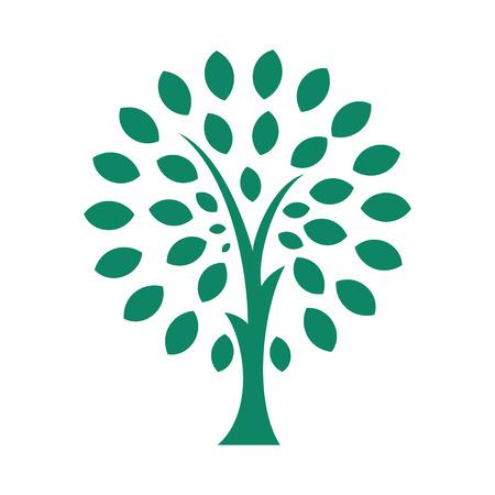 albero stilizzato: Albero stilizzato Vettoriali
