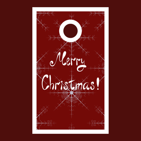 Christmas sale tag with snowflakes and Merry Christmas lettering Vector