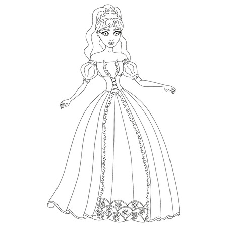 Mooie prinses Vector Illustratie