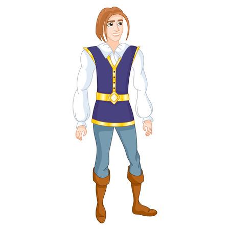illustration of brave prince Vector