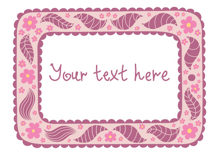 Original tablet with vintage flowers and doodles Vector
