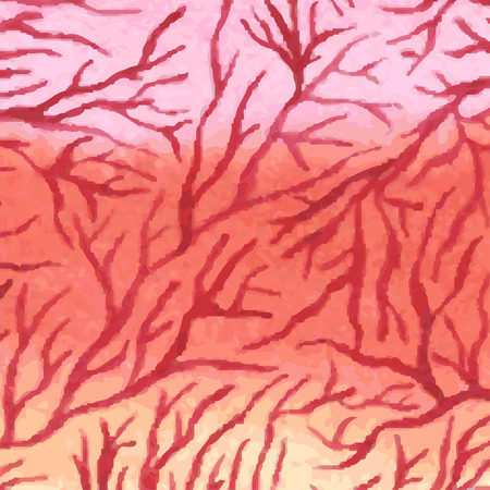 capillaries: Watercolor background with capillaries