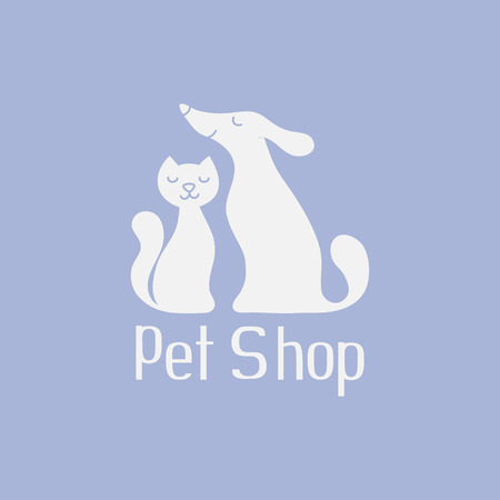 Cat and dog  for pet shop