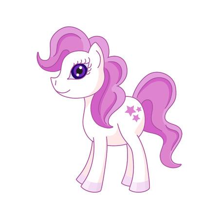 Vector illustration of cute horse