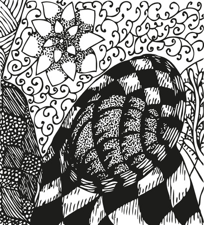 doodling: Abstract background with doodling hand drawn patterns Illustration