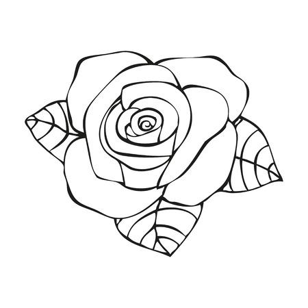 rosas negras: Rose en estilo del tatuaje