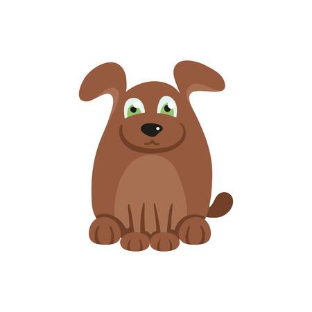 brown hair: Cute dog with brown hair
