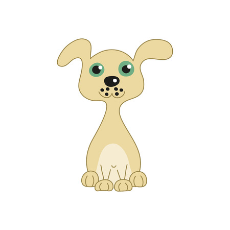 doggy: Vector illustration of funny doggy Illustration