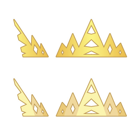 fullface: Royal crowns in profile and fullface Illustration