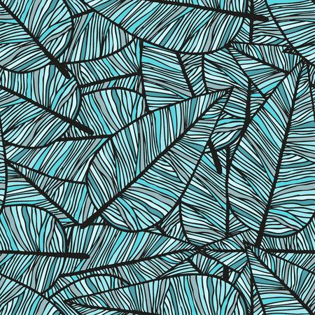 Mano disegnato scarabocchiare sfondo trasparente con piume colorate e modelli etnici, illustrazione vettoriale Vettoriali