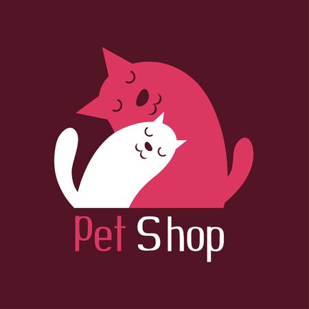 amor adolescente: Gato y perro tierno abrazo Vectores