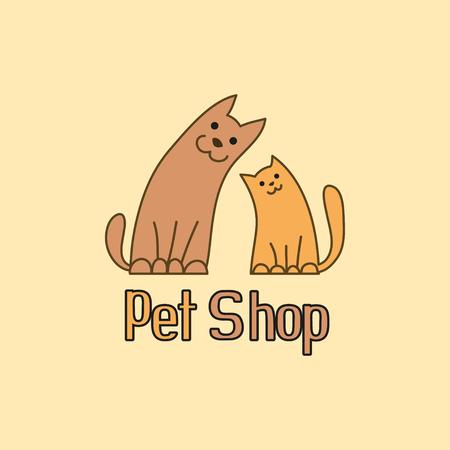 mejores amigas: El gato y el perro son mejores amigos Vectores
