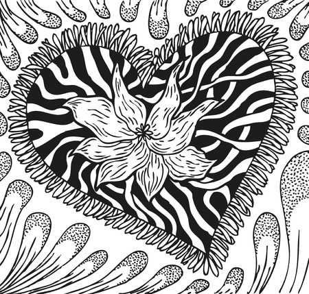 doodling: Abstract background with doodling hand drawn patterns.